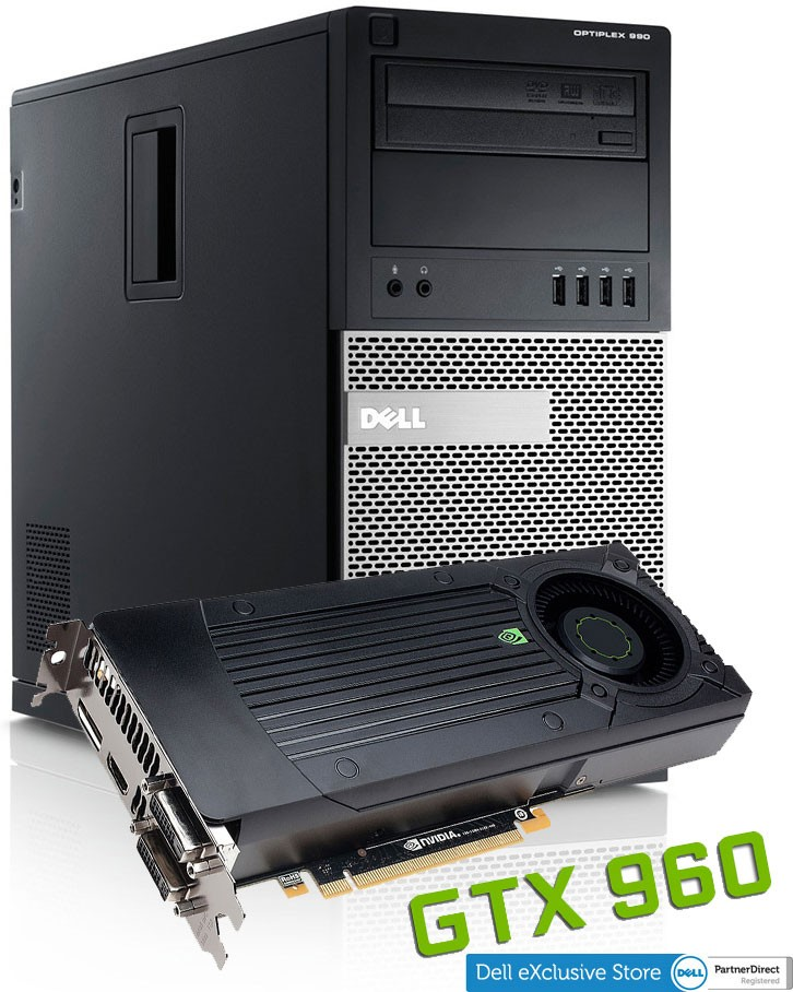 Calculatoare Refurbished Dell Optiplex 990 Tower i7-2600 Quad-Core up to 3.80 GHz + Geforce GTX 960