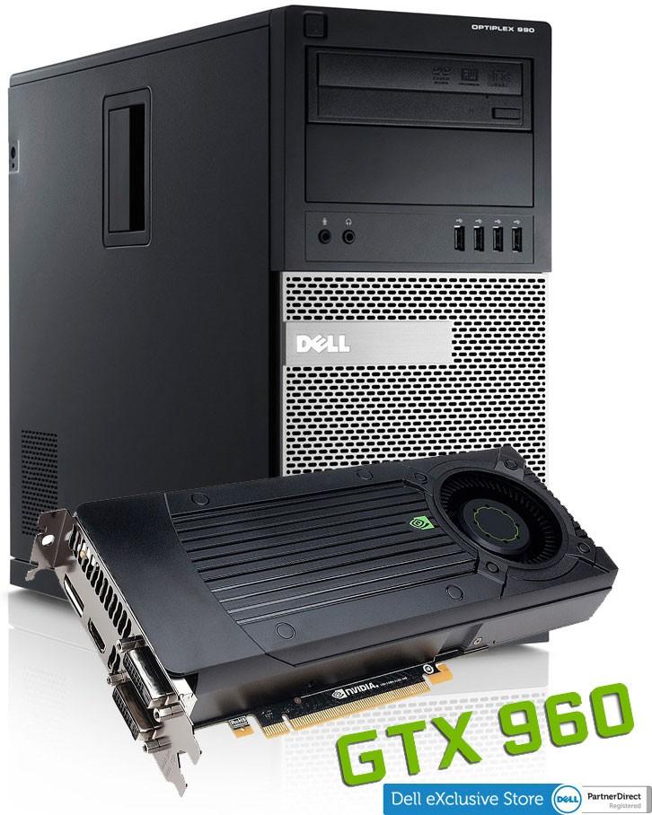 Dell Optiplex 990 Tower  + GeForce GTX 960 - 2GB/GDDR5 / 128Bit