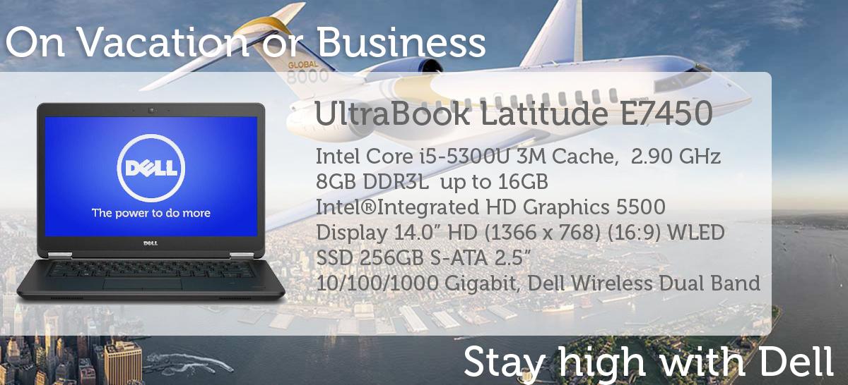 UltraBook Refurbished Dell Latitude E7450